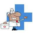 Cartoon doctor vector image vector image