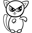 cartoon kawaii kitten coloring page vector image vector image