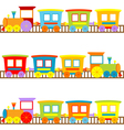 Cartoon trains vector image vector image