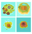 cartoon tropical exotic island in ocean top view vector image vector image