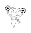 Cheerful pig with balls cartoon happy