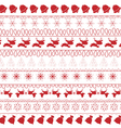 christmas and winter seamless pattern vector image vector image