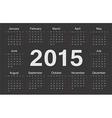 Circle european 2015 year calendar vector image vector image