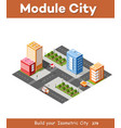 city isometric 3d intersection vector image vector image