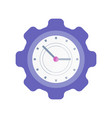clock in shape of cogwheel icon time management vector image vector image
