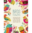 Colorful background with cute decorative birds vector | Price: 3 Credits (USD $3)