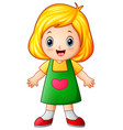 cute little girl cartoon vector image