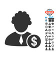 financial judge icon with free bonus vector image