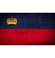Flags Liechtenstein with dirty paper texture vector image vector image