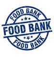 food bank blue round grunge stamp vector image vector image