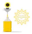 for yellow bottle sunflower oil vector image