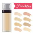 foundation cream vector image vector image