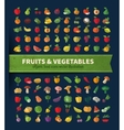 Fruit and vegetables Set of icons Fresh food vector image vector image