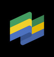 gabon flag ribbon isolated gabonese republic tape vector image vector image