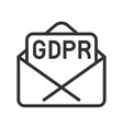 gdpr general data protection regulation icon line vector image vector image