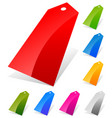 glossy price tags labels in more colors with vector image