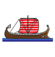 greek boat odyssey argonauts for greece travel vector image vector image