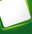 green background templete vector image