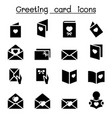 greeting card icon set vector image