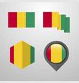 guinea flag design set vector image vector image