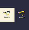 hair repair and bright logo for barber shop vector image vector image