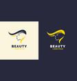 hair repair and bright logo for barber shop vector image