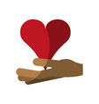 Hand holding heart cartoon icon image