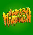 happy halloween text design lettering vector image vector image
