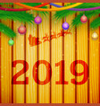happy new year festive template vector image vector image