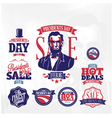 Happy presidents day huge sale vector image vector image