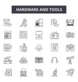 hardware and tools line icons for web and mobile vector image vector image