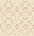 heart in circle seamless pattern in thin vector image vector image