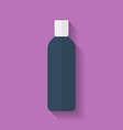 Icon of cosmetic bottle Flat style vector image