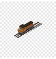 isolated locomotive isometric train vector image