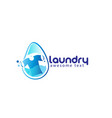 laundry logo templates or wash service room vector image vector image