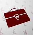 Logo briefcase Stock vector image vector image