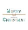 Merry Christmas cute textile lettering vector image vector image