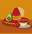 mexican food card vector image vector image