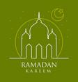 moslem ramadan kareem greeting card design vector image