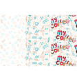 my coffee pattern set in hand vector image vector image
