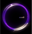Neon Glossy Sphere Abstract Background vector image