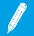 pencil icon white vector image
