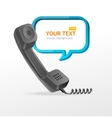 phone receiver as text box vector image vector image