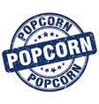 popcorn blue grunge round vintage rubber stamp vector image vector image
