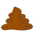 realistic turd brown feces cartoon shit vector image vector image