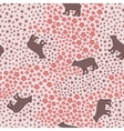 Seamless pattern with big funny bear in the meadow vector image
