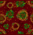 seamless texture pattern winter coniferous vector image