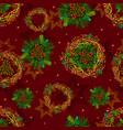 seamless texture pattern winter coniferous vector image
