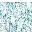 seamless wave background plants drawn vector image vector image