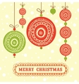 Seamless xmas decoration vector image